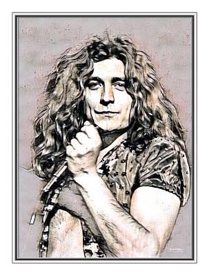 Robert Plant Illustrated Art Print by Scott Wallace
