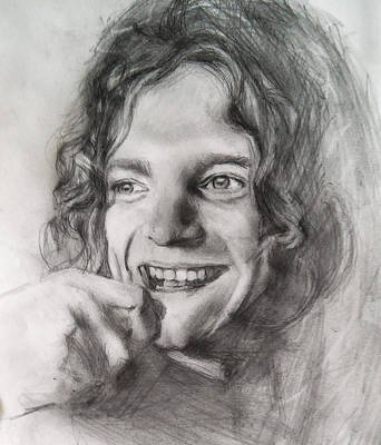 Robert Plant Drawing - Robert Plant  by John Balestrino