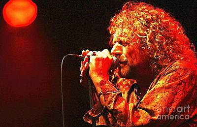 Robert Plant Digital Art - Robert Plant by John Malone