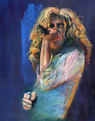 Robert Plant Wall Art - Pastel - Robert Plant by Laurie VanBalen