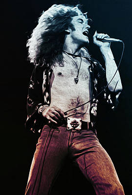 Painting - Robert Plant - Led Zeppelin by Andrea Mazzocchetti