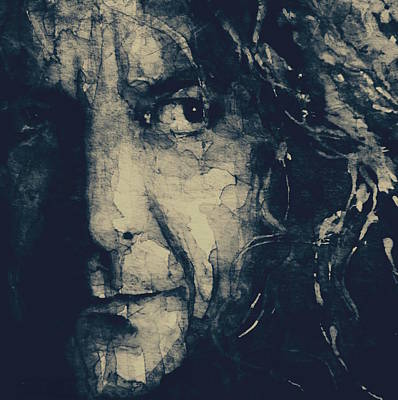 Portrait Mixed Media - Robert Plant - Led Zeppelin by Paul Lovering
