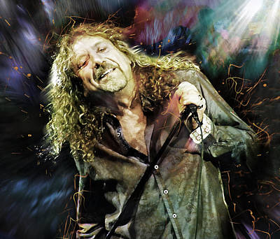 Led Zeppelin Digital Art - Robert Plant by Mal Bray