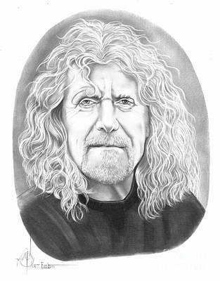 Robert Plant Drawing - Robert Plant by Murphy Elliott