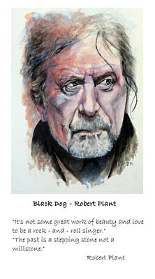 Robert Plant Painting - Robert Plant Quote by William Walts