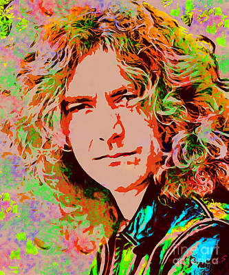 Lead Singer Painting - Robert Plant by Sergey Lukashin