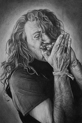 Robert Plant Drawing - Robert Plant by Steve Hunter