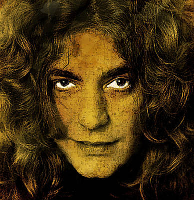 Led Zeppelin Painting - Robert Plant Vintage Style  by Enki Art