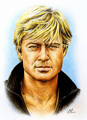 Seventies Painting - Robert Redford by Andrew Read