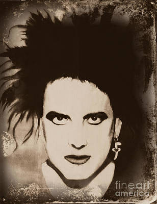 Painting - Robert Smith The Cure by Jeepee Aero