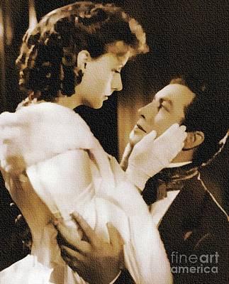 Robert Taylor And Greta Garbo Art Print