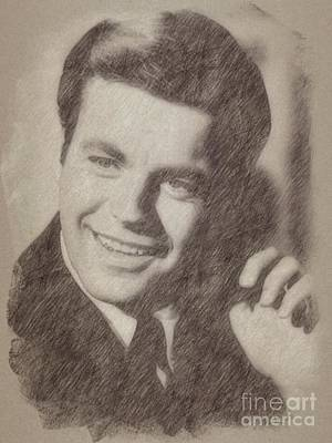 Pinup Drawing - Robert Wagner, Actor by Frank Falcon
