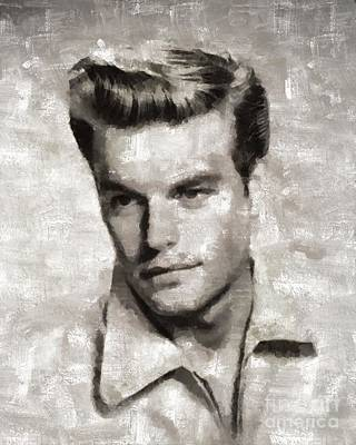 Wagner Painting - Robert Wagner, Vintage Actor by Mary Bassett