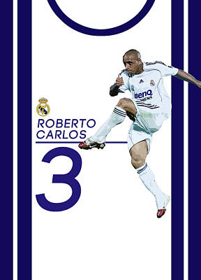 Champion Digital Art - Roberto Carlos by Semih Yurdabak