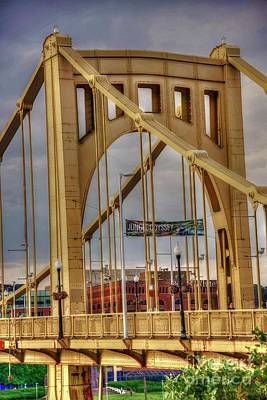 Photograph - Roberto Clemente Bridge Tower by David Bearden