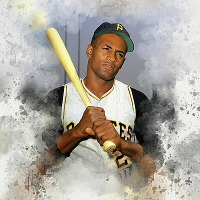 Roberto Clemente Digital Art - Roberto Clemente by Karl Knox
