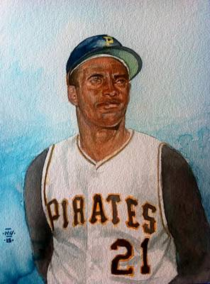 Roberto Clemente Original by Nigel Wynter