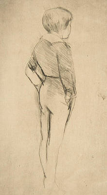 Relief - Robert's Back by Mary Cassatt