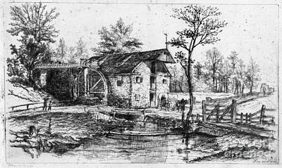 Drawing - Robert's Mill, 1880 by Granger