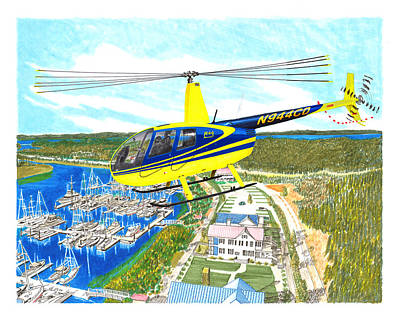 Painting - Robertson R 44  by Jack Pumphrey