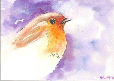 Painting - Robin 2 by Asha Sudhaker Shenoy