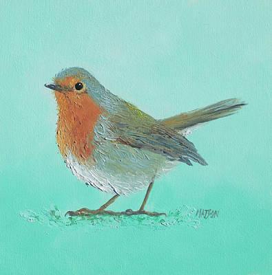 Australian Native Painting - Robin Bird Painting by Jan Matson