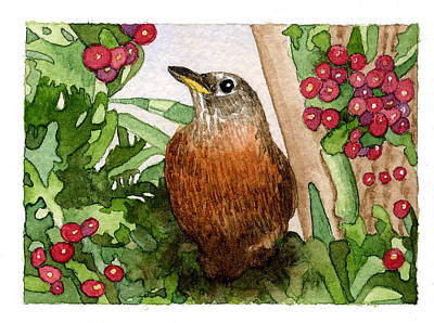 Painting - Robin by Eunice Olson