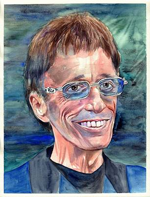 Robin Painting - Robin Gibb Bee Gees by Suzann's Art