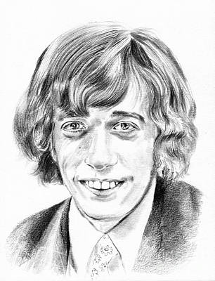 Robin Gibb Drawing Original