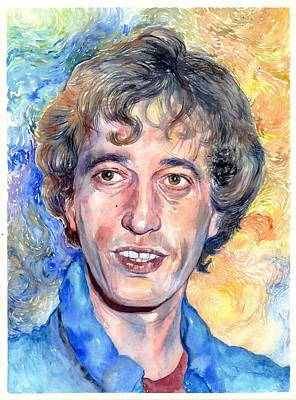 Bee Wall Art - Painting - Robin Gibb Portrait by Suzann's Art
