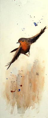 Painting - Robin - Gone With The Wind by Ruth Trinczek