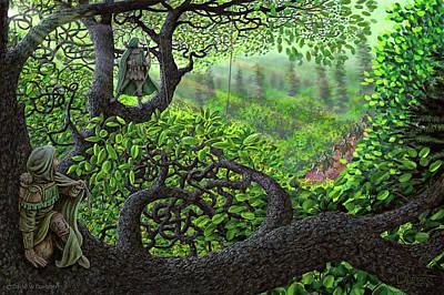 Art Print featuring the painting Robin Hood by Dave Luebbert