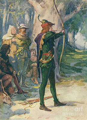 Knights Castle Painting - Robin Hood by Robert Hope
