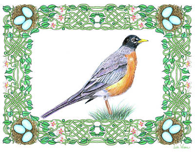 Drawing - Robin In Spring by Lise Winne