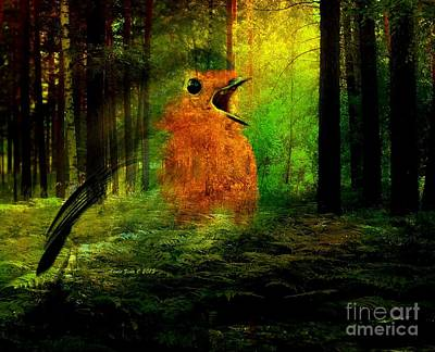 Photograph - Robin In The Forest by Annie Zeno
