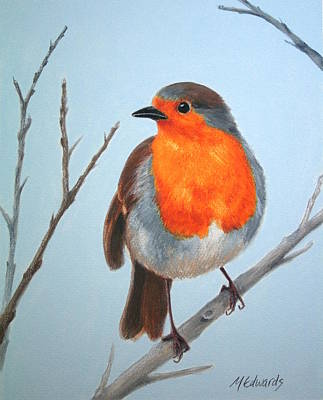 Painting - Robin In The Tree by Marna Edwards Flavell