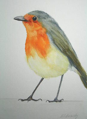 Painting - Robin by Marna Edwards Flavell