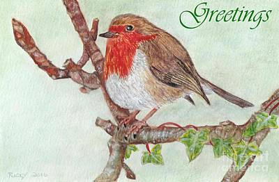 Painting - Robin Redbreast by Veronica Rickard