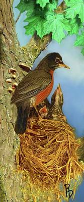 Digital Art - Robin Responsibilities by Ric Darrell
