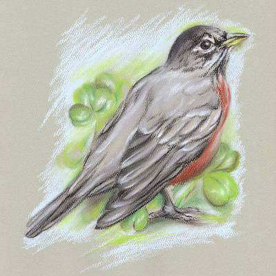 Pastel - Robin Returns In Spring by MM Anderson