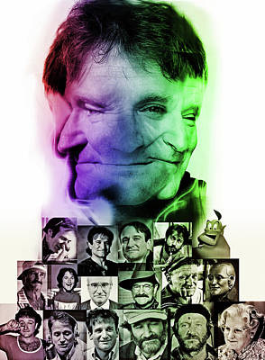 Morning Star Mixed Media - Robin Williams by Russell Pierce