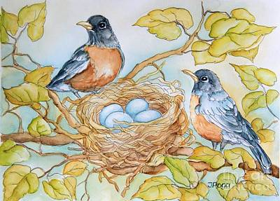 Robins Nest Art Print by Inese Poga