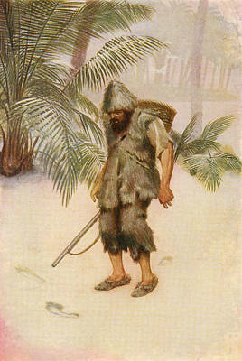 Robinson Crusoe Sees A Footprint In The Art Print