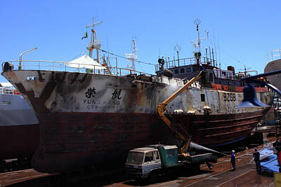 Photograph - Robinson Dry Dock, Cape Town by Aidan Moran