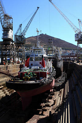Photograph - Robinson Dry Dock, Cape Town, South Africa by Aidan Moran