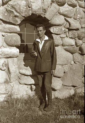 Photograph - Robinson Jeffers At Tor House  by California Views Mr Pat Hathaway Archives