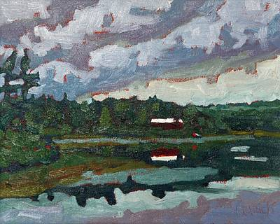 Painting - Robinson Lake Morning Cottage by Phil Chadwick