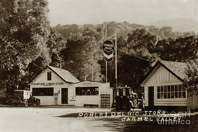 Photograph - Robles Del Rio Store,  Rosie's Cracker Barrel Store, Carmel Valley 1933 by California Views Mr Pat Hathaway Archives