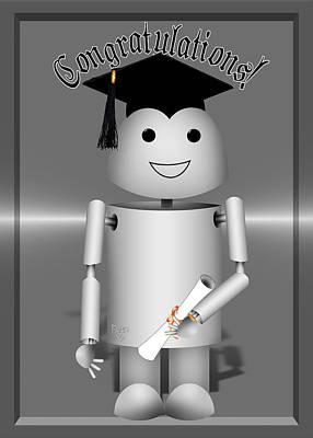 Diploma Mixed Media - Robo-x9 The Graduate by Gravityx9 Designs