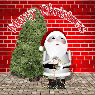 Robotics Mixed Media - Robo-x9 Wishes A Merry Christmas by Gravityx9 Designs